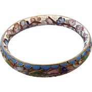 SALE Extraordinary Ornate Chinese Cloisonne' Bangle Bracelet Shadowbox Design!