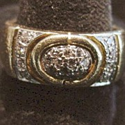 18K Diamond Pave Band Ring - 1980's
