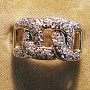 14K Diamond Pave  Ring - 1970's
