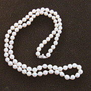 Baroque Cultured Pearl  Opera Length Strand - 1920's