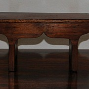 SALE Country French Miniature Walnut  Foot Stool