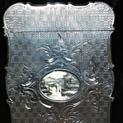 SALE Fine Victorian Sterling Lady's Card Case
