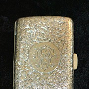 SALE English Sterling Silver Engraved Case, 1895