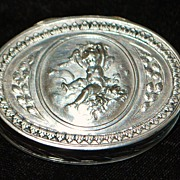 SALE French Henin & Cie 950 Silver Pill Box, c. 1900