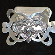 SALE Large Art Nouveau Sterling Brooch by Unger Bros - 1915
