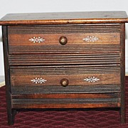 American Miniature  Two Drawer  Chest ,c. 1885