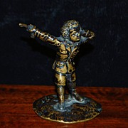 "SALE French Miniature Bronze ""The Duelist"",c.1870"