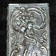 SALE German 800 Silver Snuff Box,c. 1890