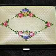 SALE Guilloche Enamel  Case - 1930's