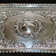 SALE English Sterling Art Nouveau Tray,1904