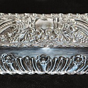 SALE English Sterling Silver Table Snuff Box, c. 1901