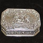 German Hanau 830 Silver Snuff Box, c. 1890