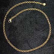 SALE 18K Italian Heavy Gold Link Necklace