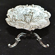 French Miniature Sterling Salon Table, c. 1900