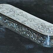 German Hanau Silver Table Snuff Box, c. 1900