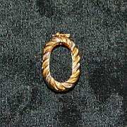 18K Tri-color Gold Necklace Enhancer - 1980's