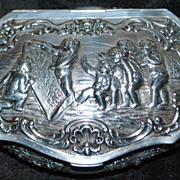 German Large Hanau 800  Silver Table Snuff - 1890's
