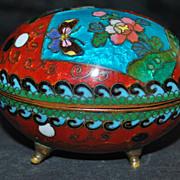 Japanese Meiji Cloisonne Egg Box, 1890-1900
