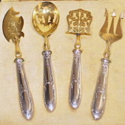 French 19th Century Silver Hors d'oeuvre Boxed Set