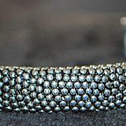 Sterling Silver Designer Cuff Bangle Bracelet