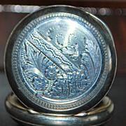 Swiss Lady's 800 Silver Pendant Watch, c. 1895