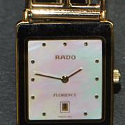"""18K Man's Rado """"Florence"""" Swiss Wrist Watch -1980"""