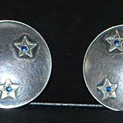 Pair of German Retro 835 Silver Earrings