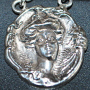 Art Nouveau Sterling Silver Watch Chain - c.1900