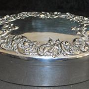 Art Nouveau Sterling Silver Dresser Box, c. 1905