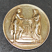 French Silver Wedding Marriage Coin - 1884