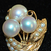 Pair of Retro Era Pearl Clip-On Earrings - 1960's
