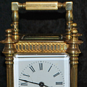 Fancy French Brass Carriage Clock-  1890's