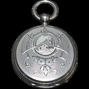 Swiss Fancy Silver OF Pocket Watch, c. 1890