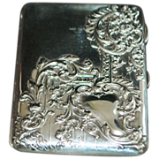 Fancy English Edwardian Sterling Silver  Wallet -1901