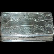 Prague 15 Loth Silver Snuff Box - 1851