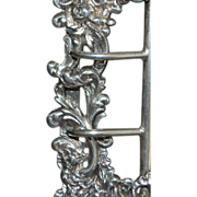 French Art Nouveau Silver Belt Buckle - 1900