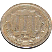US  Three Cent Coin - 1868