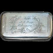 German 800 Silver Snuff Box, c. 1890