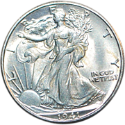 US Walking Liberty Half Dollar UNC Coin - 1941-D