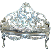 Dutch Miniature 830 Silver Settee - 1901