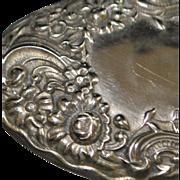 Solid Sterling Silver Fancy Belt Buckle