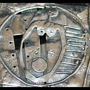 Sterling Wearable Art Large Brooch - 1980's