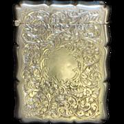 English Edwardian Sterling Silver Card Case - 1906