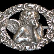 """Italian 800 Silver """"Angel"""" Brooch - 1920's"""