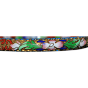 Colorful Chinese Floral Enamel Cloisonne Bangle