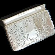 French 950 Silver Snuff Box, - 1840