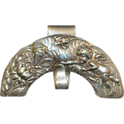 Victorian Sterling & S/P Chatelaine Purse Holder - 1890's