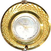 Swiss 18K Gold Plated Lady's Pendant watch on Chain - 1970's