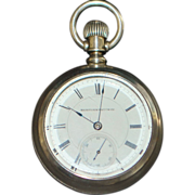 Hampden OF Coin Silver and Gold Pocket Watch - 1883