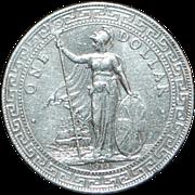 Great Britain Silver Trade Dollar Coin - 1911 - B - UNC